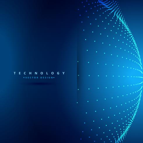 technology background with sphere dots vector design illustratio