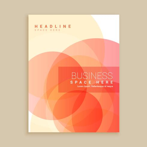 orange magazine cover poster template