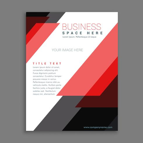 red stripes business annual report brochure poster flyer design