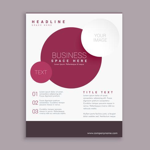 design de folheto de negócios corporativos com círculos marrons