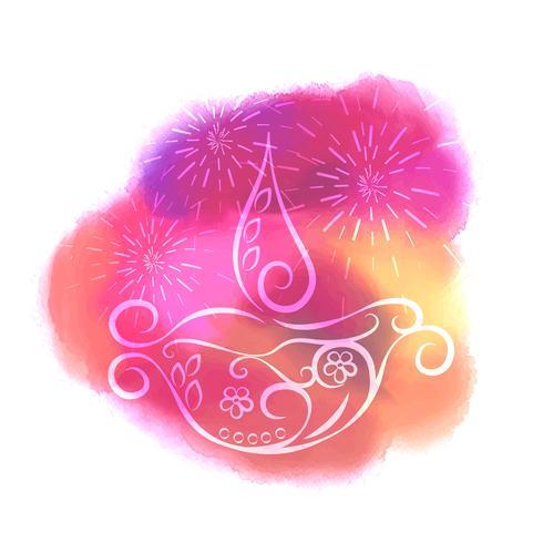 illustration de conception créative coloré diwali diya vector