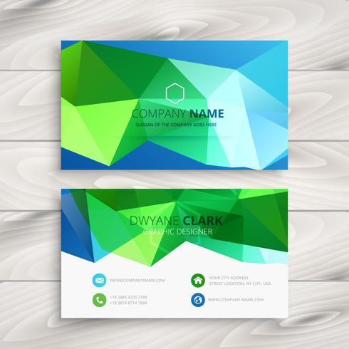 abstract colorful business card template vector design illustrat