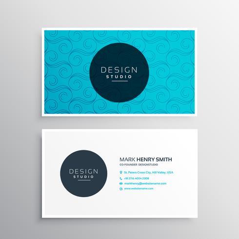 elegant blue pattern business card