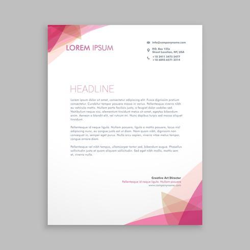 papel timbrado criativo modelo estacionário vector design illustrati