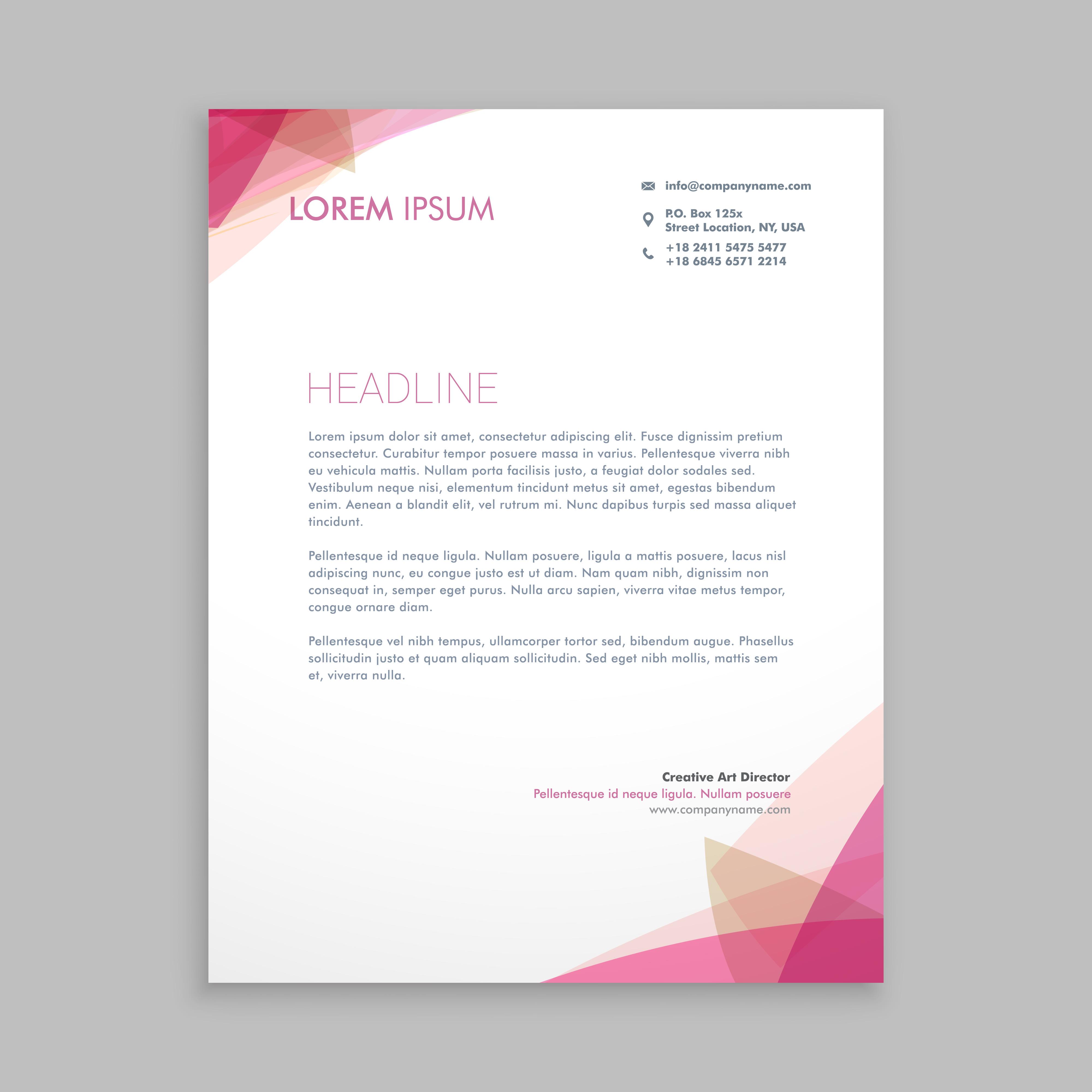 Letterhead Designs For Free: Letterhead Free Vector Art