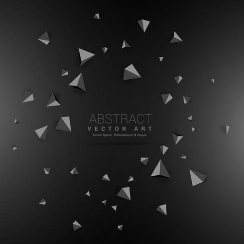 dark background with 3d triangle shapes