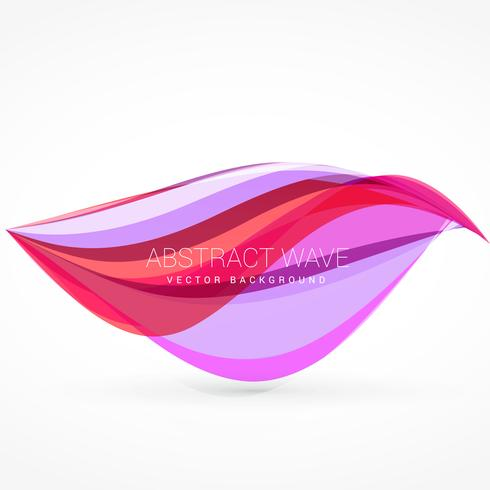 colorful wave vector background design illustration