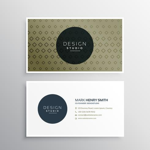 clean business card template with abstract geometric shapes patt
