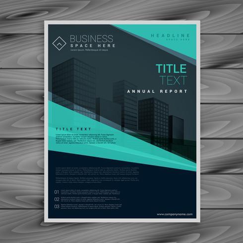 blue professional brochure design template
