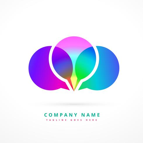 colorful chat symbol logo template design