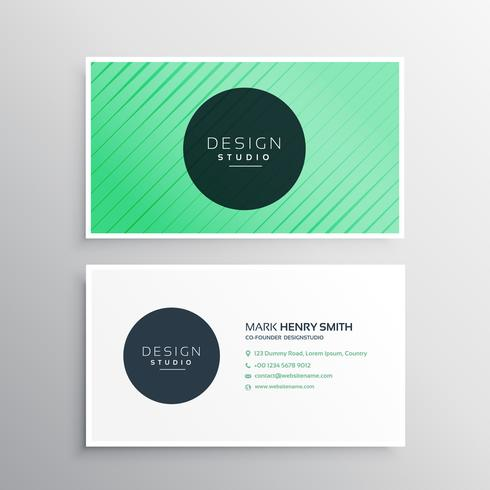 modern business card with stripes