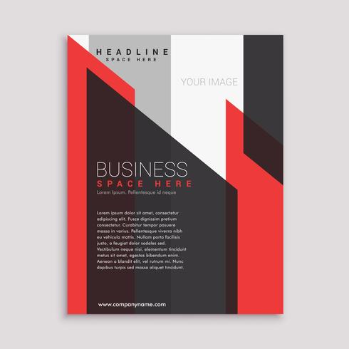 business flyer brochure design template in red black and white s