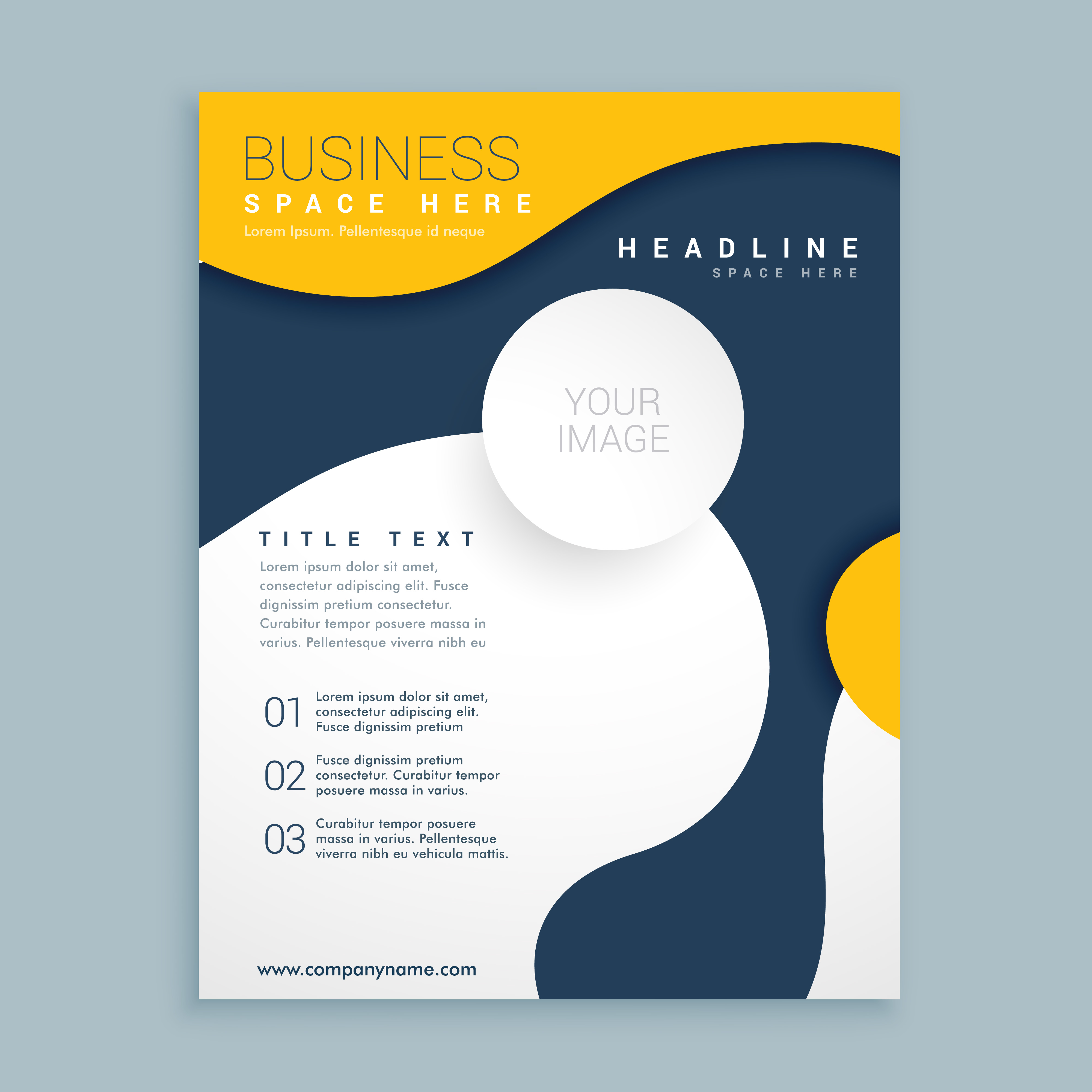 Yellow Cover Brochure Flyer Design Poster Leaflet Template