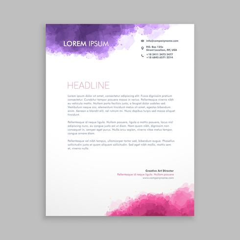 Letterhead design in paint style template vector design illustra letterhead design in paint style template vector design illustra spiritdancerdesigns Image collections