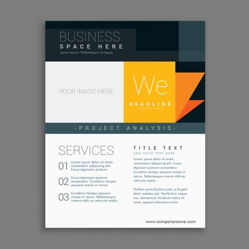 business template brochure for company
