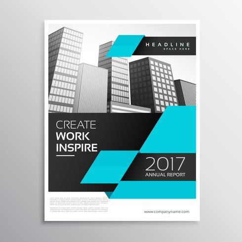 design brochure aziendale blu e nero in a4 opuscolo presentati