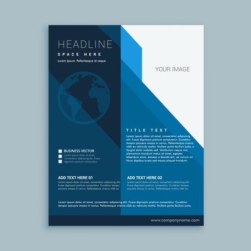 business flyer template with earth icon