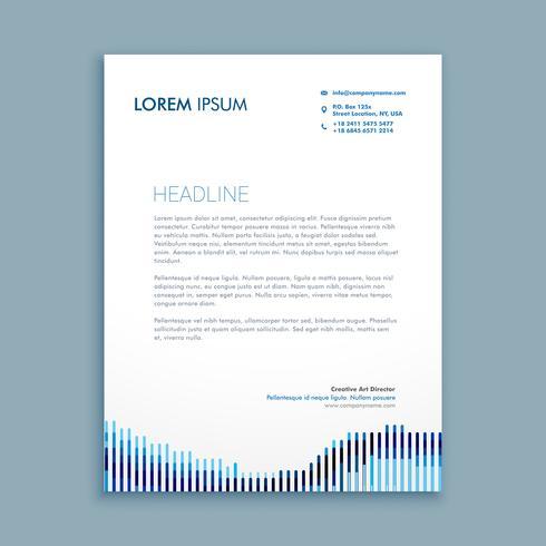 tendy letterhead business template vector design illustration