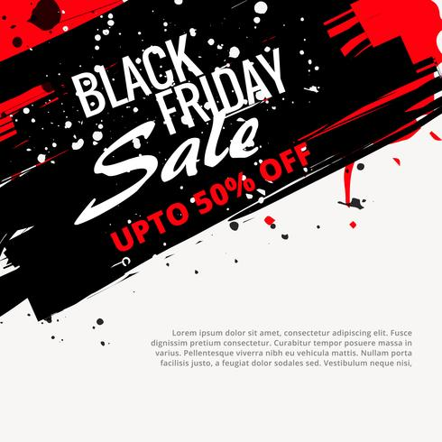 abstract grunge black friday sale design