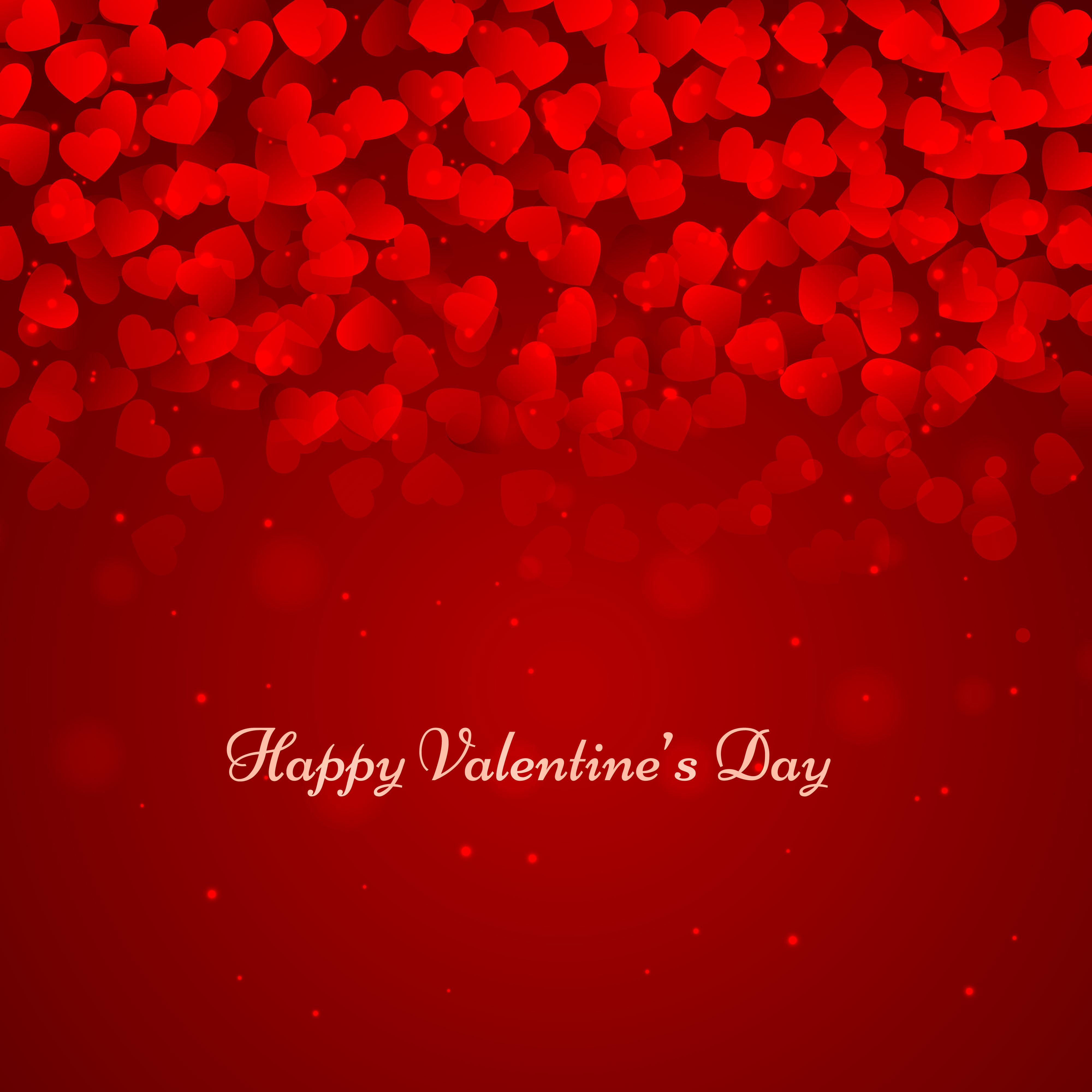 Valentine Day: Happy Valentines Day Background Vector Design Illustration