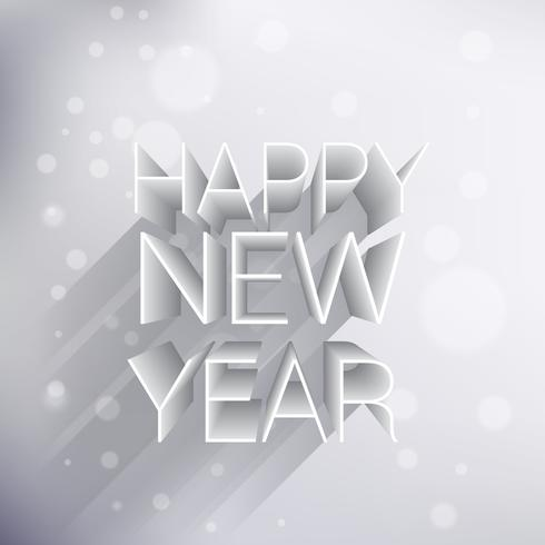 creative 3d happy new year design