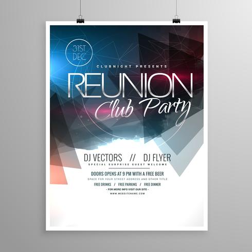 event club party flyer template brochure design download free