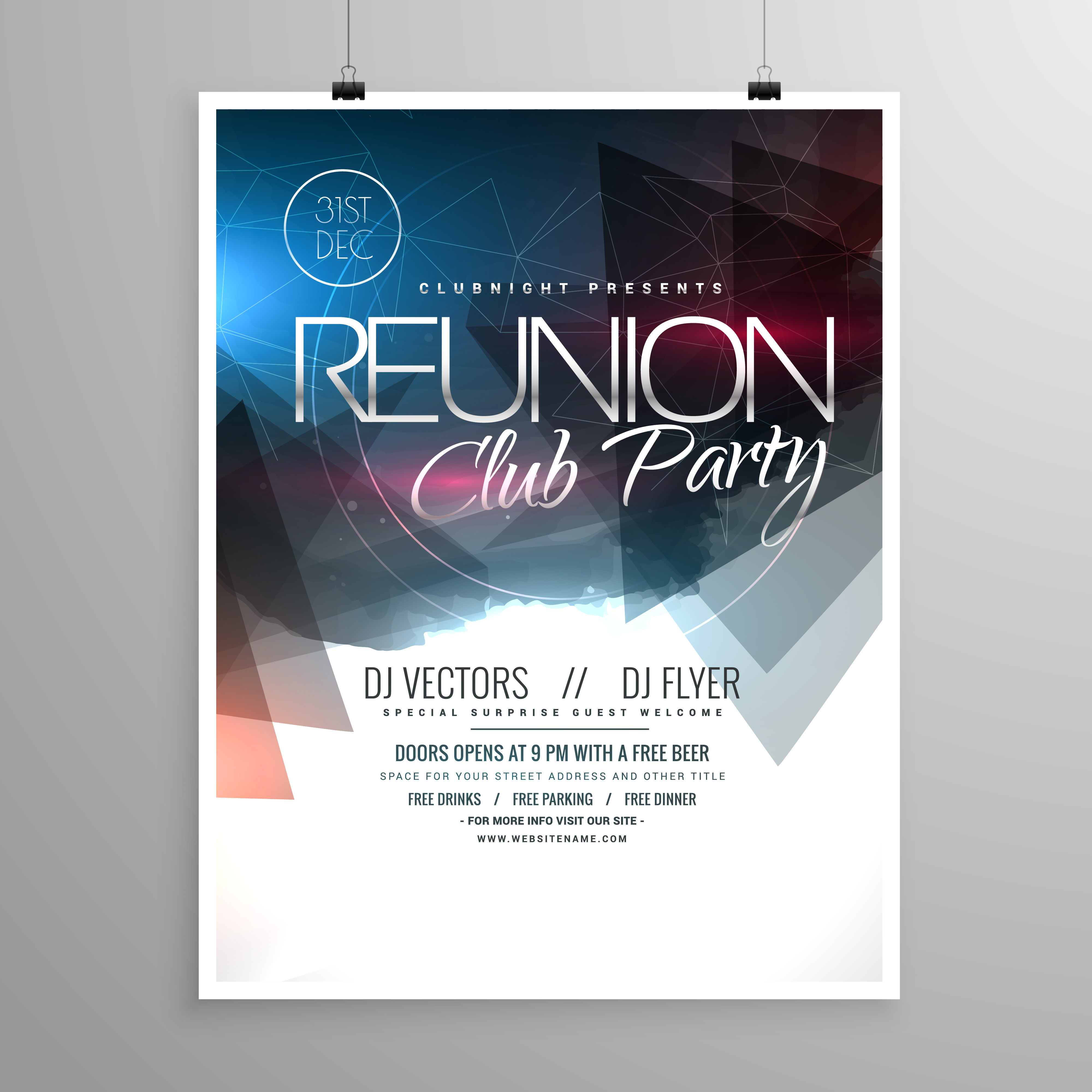 party brochure template - event club party flyer template brochure design download