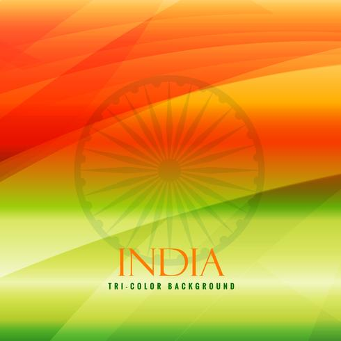 tricolor background of india vector design illustration