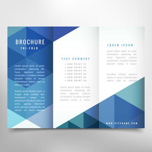 élégante brochure à trois volets