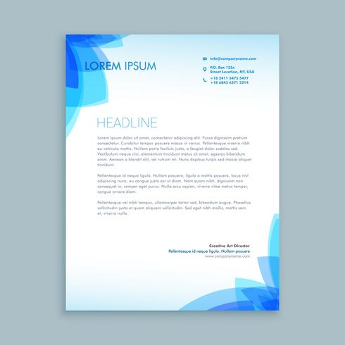 creative business letter  template vector design illustration