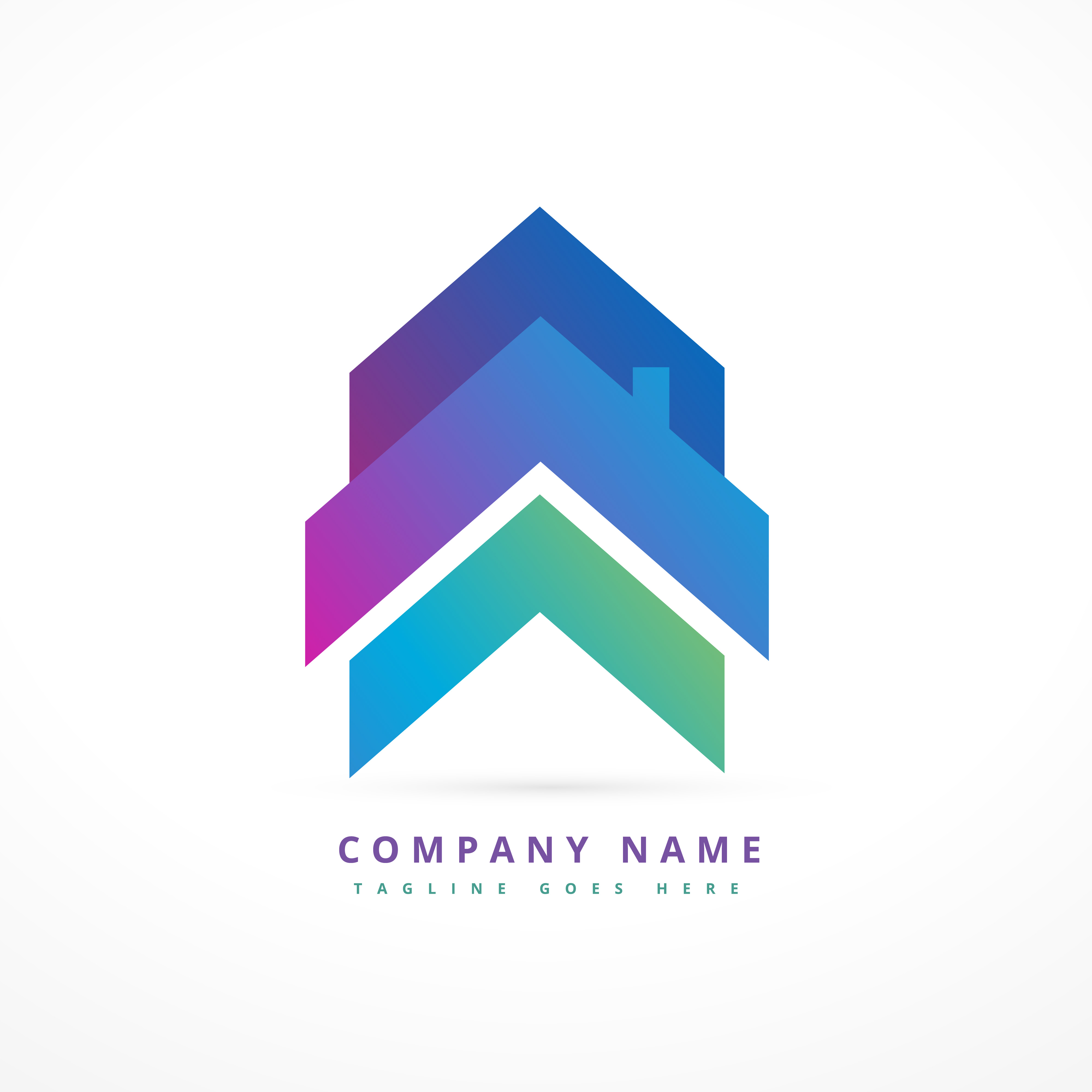 Arrow house business logo design download free vector for Designing company