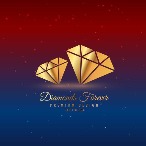 diamonds in gold