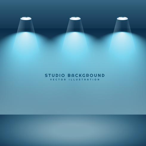 studio background with three lights