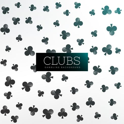 clubs symbol pattern background