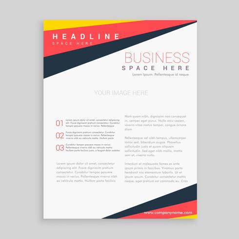 minimal brochure flyer design with bright trendy colors