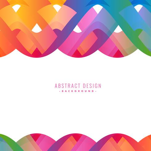 colorful abstract wavy background design
