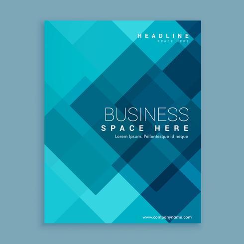 blue magazine cover template