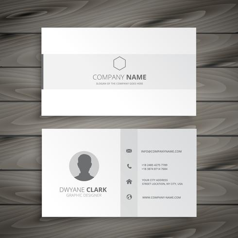 white minimal business card vector design illustration