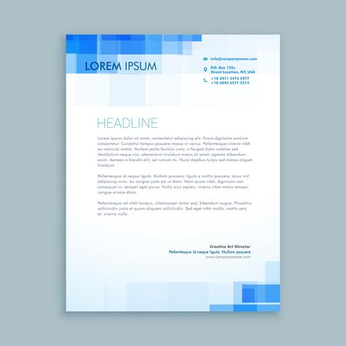 abstract creative letterhead  template vector design illustratio