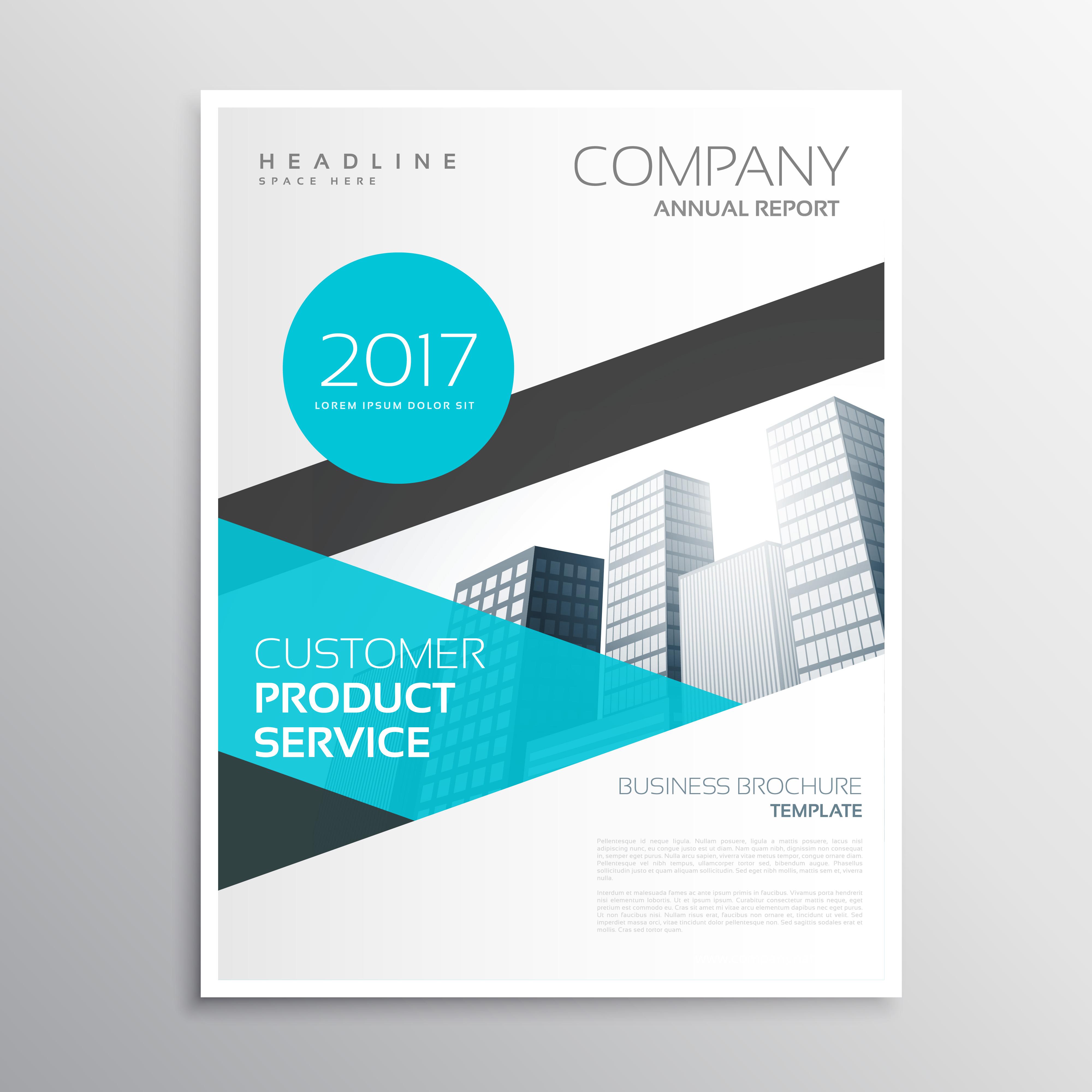 modern blue business brochure template poster flyer design
