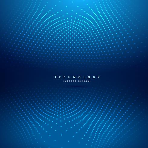 abstract dots mesh in blue background vector design illustration