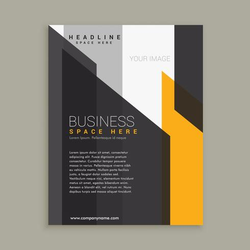 abstract yellow black business template