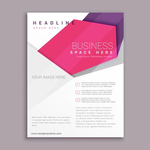 abstract geometric business flyer poster leaflet design
