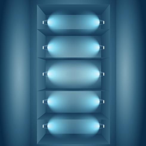 display lights wall with lights