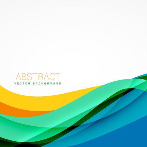 ilustração colorida colorida da ilustração da onda do vetor