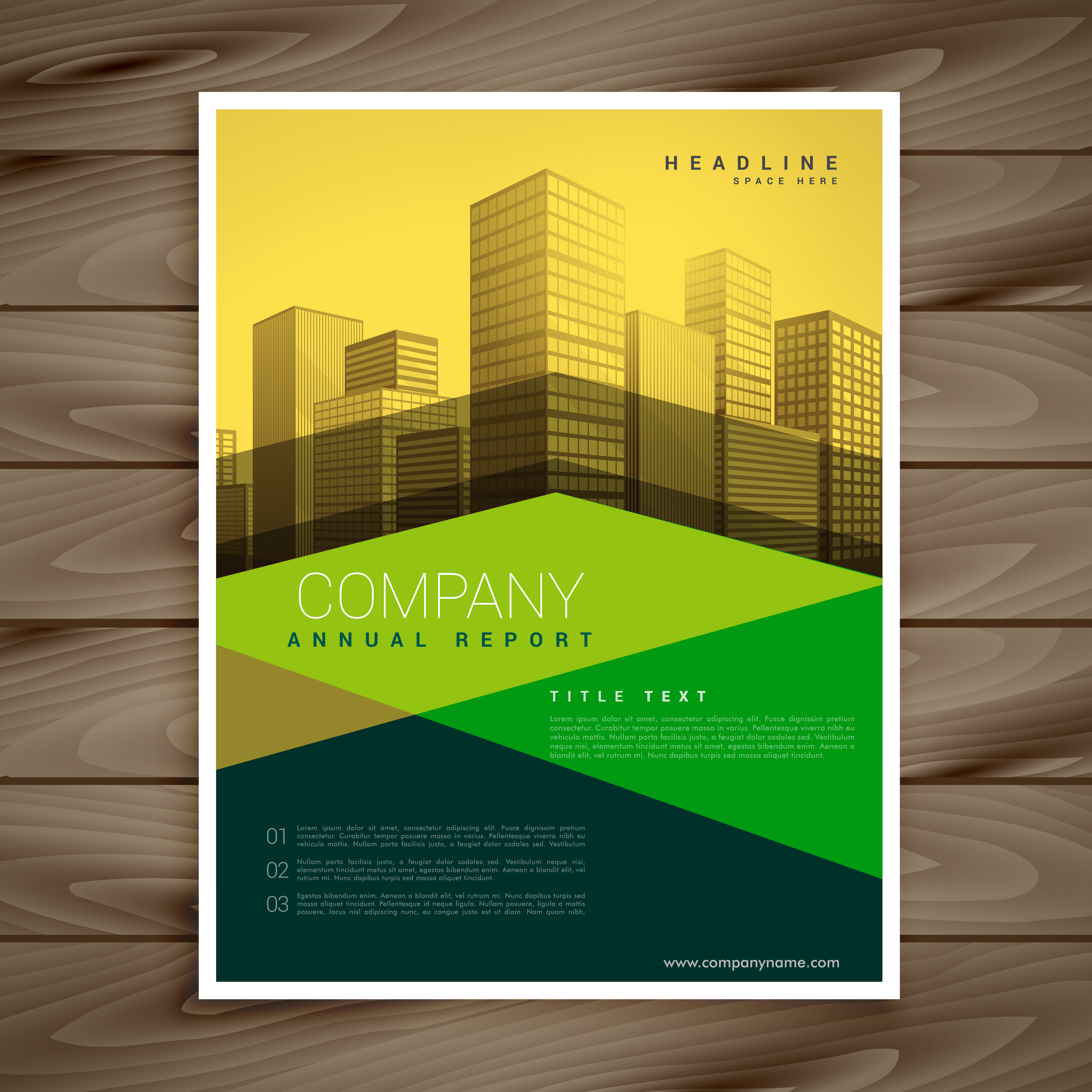 modern yellow and green business brochure template design