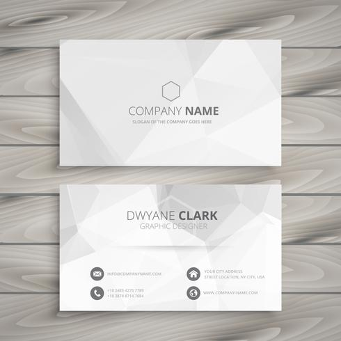 white business card vector design illustration