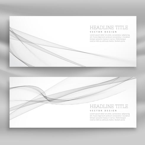 clean gray wave banner template