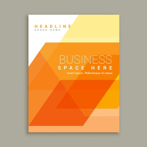 orange business magazine brochure template