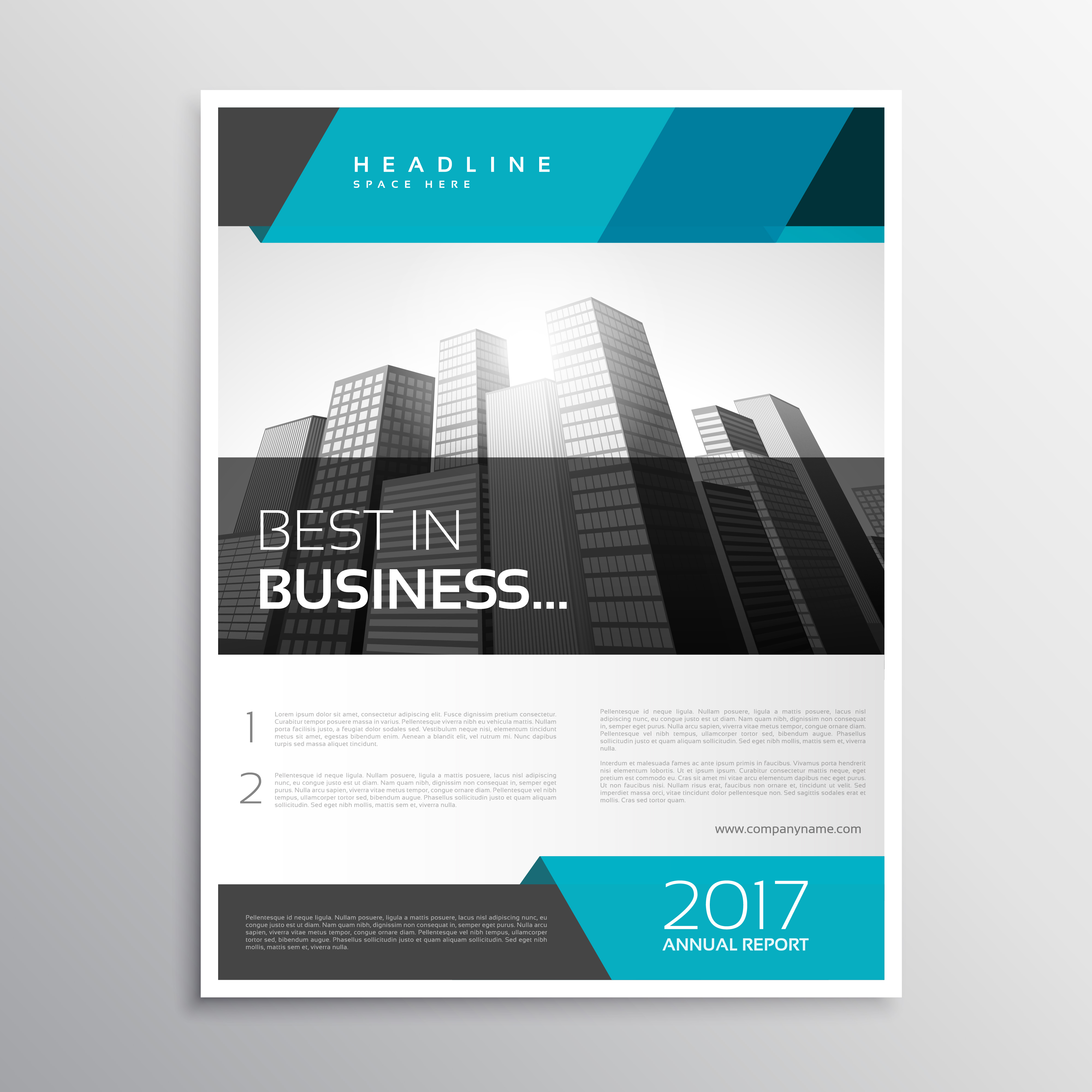 modern business flyer brochure cover template